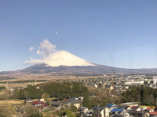御殿場高原ホテルから見える富士山